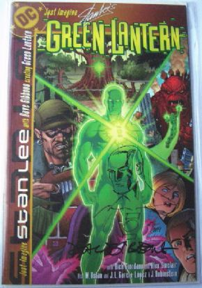 Just Imagine Stan Lee's Green Lantern Dyanamic Forces DF Signed Re-Marked Dave Gibbons COA Ltd 299